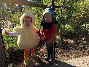 Capri and Benny at the Zoo