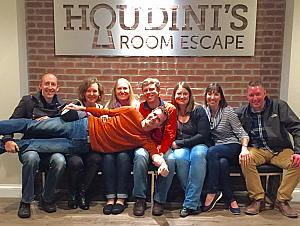 At Houdini's Room Escape -- a fun night!
