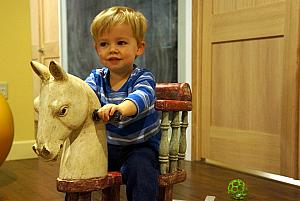 Thomas on the rocking horse