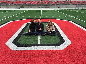 Kelly visited the Ohio State football stadium and saw the Athletic Director speak as part of a work team building event.