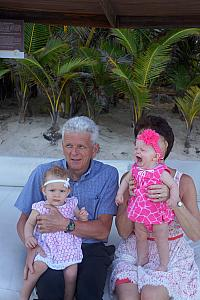 Family photo shoot - Grandparents and Granddaughters - what did you do to Kenley, Grammy?!