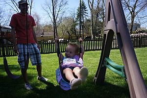 Swinging in the big girl swing!