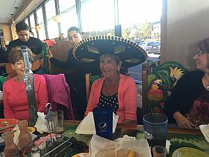 Happy Birthday Nana Rosie! At Cancun restaurant.