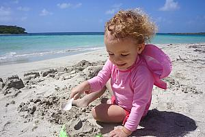 Capri had a great time playing in the sand!