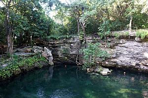 A Cenote on the resort property